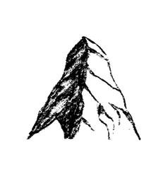 mountain icon vintage vector image