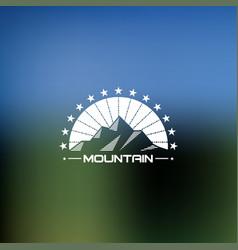 mountain lineart logo hipster logo vector image