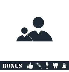 People icon flat vector image
