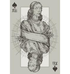 Queen Spade vector