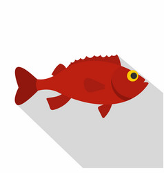 red betta fish icon flat style vector image