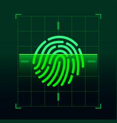 Set fingerprint flat line icons vector