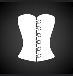 Sexy corset icon vector