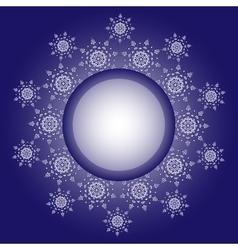 Snowflake design Frame background vector image