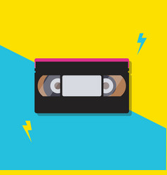 Stack video cassette tapes vector