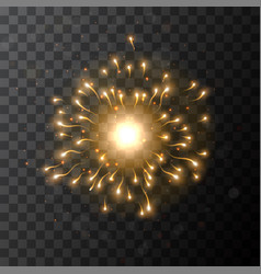 star burst sparkle with glow light effect vector image