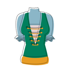 Swiss national costume of women image vector