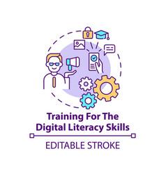 Training for digital literacy skills concept vector