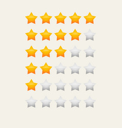 Yellow glossy star rating vector
