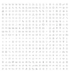 400 high quality thin line icons - ecommerce vector image vector image
