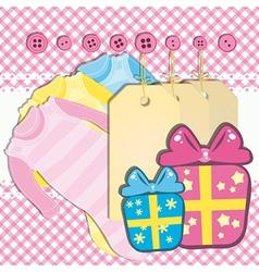 Baby girl gift card vector image