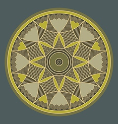 Byzantine rosette vector image vector image