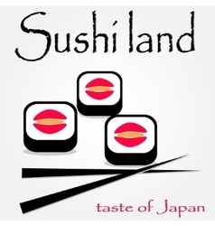 colorful sushi logotype vector image vector image