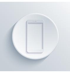modern smartphone light circle icon vector image