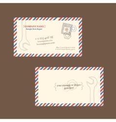 repair business card template vector image