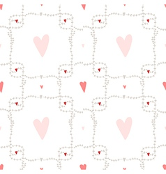 seamless pattern with square wreath element vector image vector image