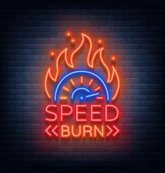 speed burn logo emblem template logo in vector image