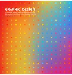 abstract bright circles ornament vector image vector image