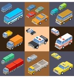 Set of isometric transport vector image
