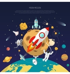 Space Mission Concept vector image vector image