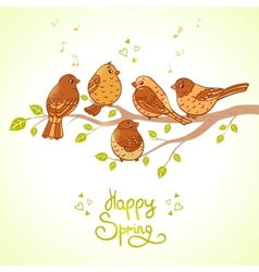 sparrows vector image vector image