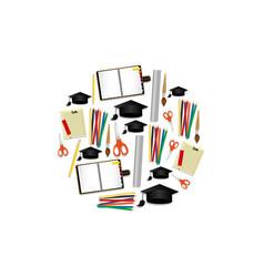 tools school elements education vector image