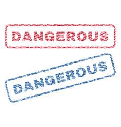 dangerous textile stamps vector image
