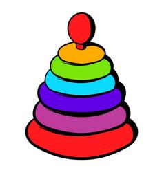 pyramid toy icon icon cartoon vector image vector image