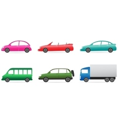 set of colorful car vector image vector image