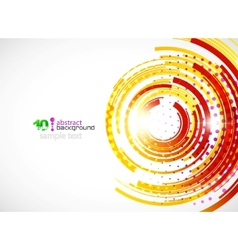 abstract technology circle background vector image