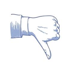 Dislike vector image