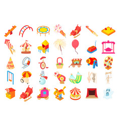 kid amusement icon set cartoon style vector image vector image