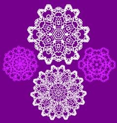 lace doily pattern set vector image