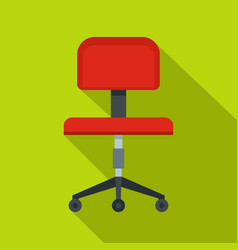 red office a chair icon flat style vector image vector image