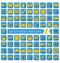 set of fashion icons vector image