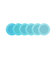 Stack of clean set plates saucers small blue with vector