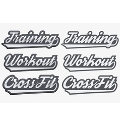 Tags Training Workout CrossFit in sports style vector image