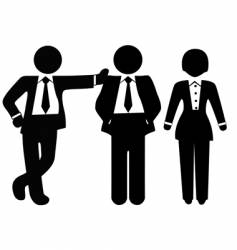 team of 3 business people vector image vector image