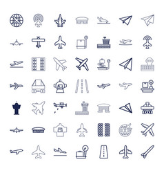 49 airplane icons vector