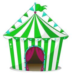 A green circus tent vector