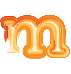Abstract oil paint letter m vector