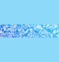 Abstract triangles shapes long banner conception vector