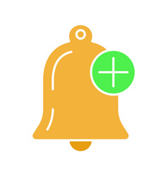 Add alert glyph color icon vector