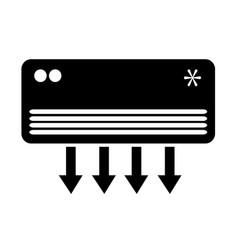 air conditioner icon design vector image