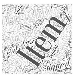 Air freight service Word Cloud Concept vector