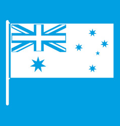 australian flag icon white vector image