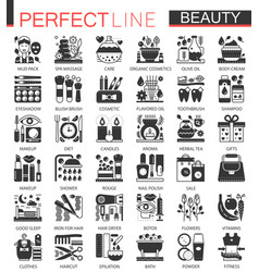 beauty cosmetics classic black mini concept vector image