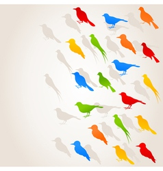 birds flight background vector image