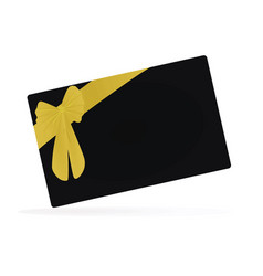black gift card vector image