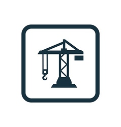 building crane icon Rounded squares button vector image
